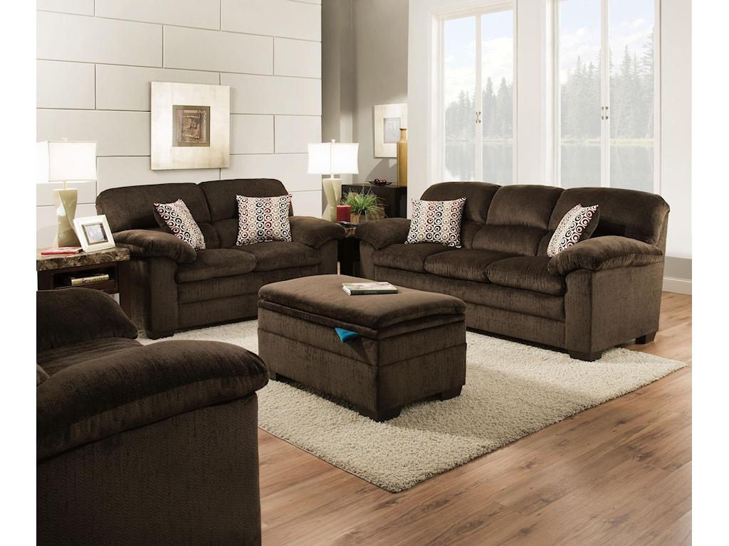 Lane Home Furnishings Sofa and Loveseat