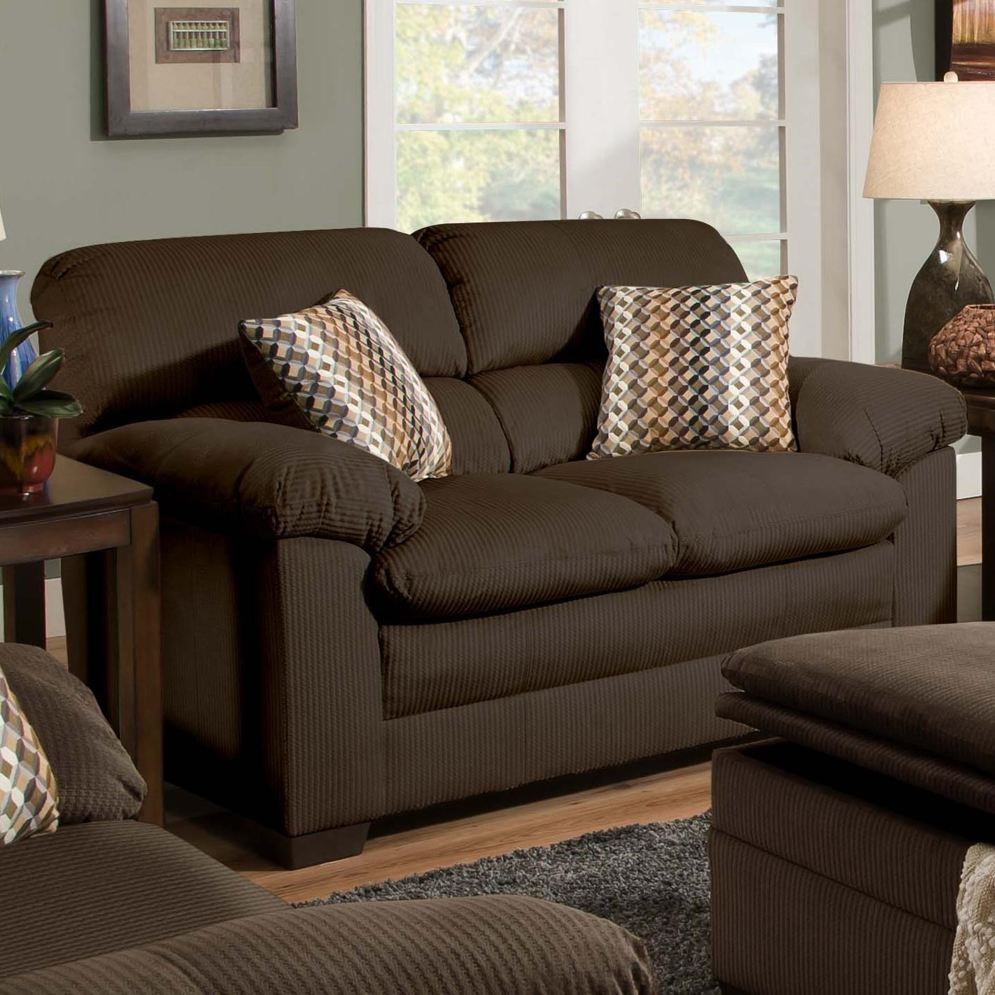 United Furniture Industries 3685 Casual Loveseat With Pillow Arms