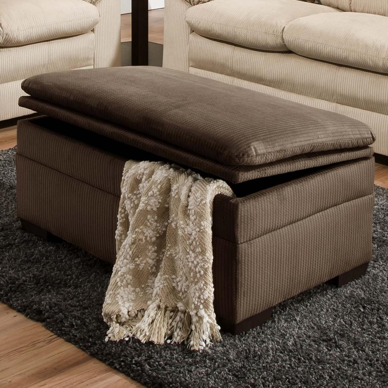 Superieur Simmons Upholstery 3685Storage Ottoman ...