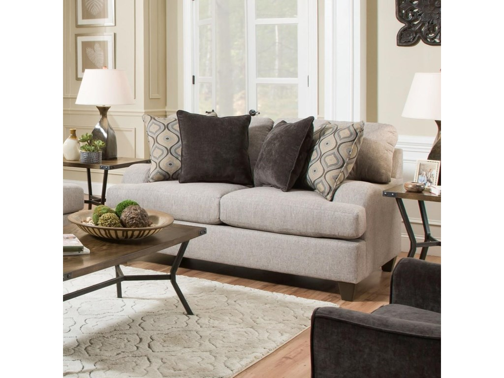 United Furniture Industries 4002Transitional Loveseat