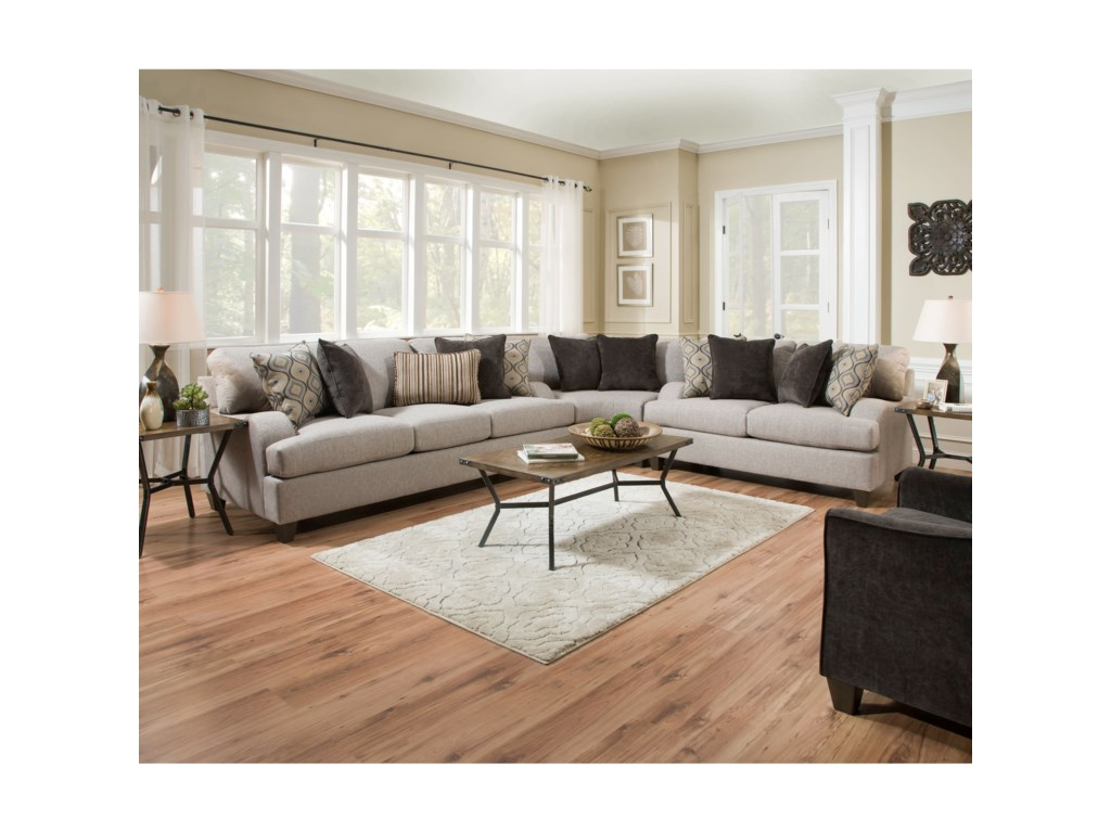 United Furniture Industries 4002Transitional Sectional Sofa