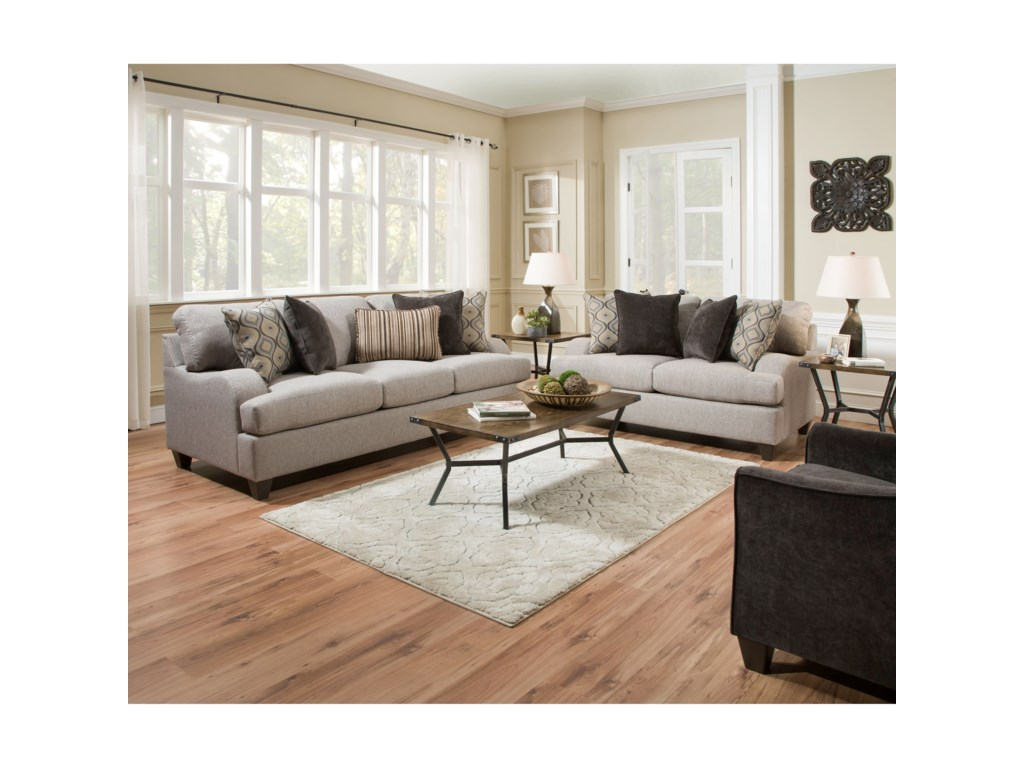 United Furniture Industries 4002Transitional Sofa