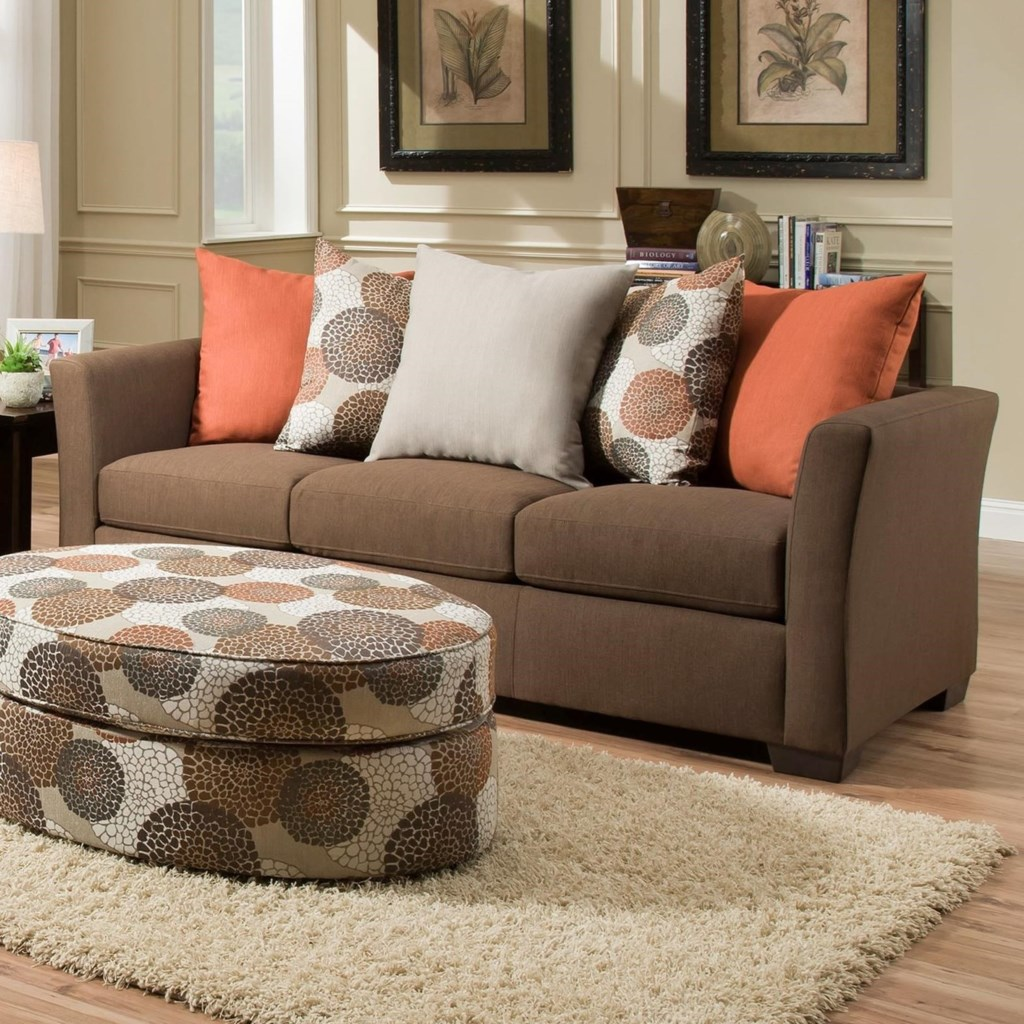 United Furniture Industries 4201 Transitional Sofa