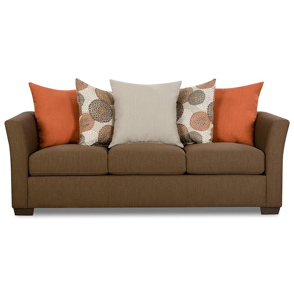 Simmons Upholstery 4201 4201Sofa TikiBrown Transitional Sofa