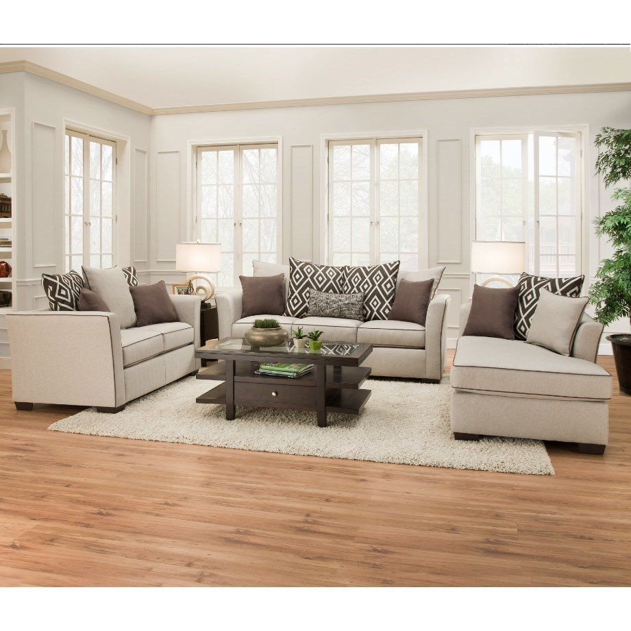 United Furniture Industries 4202 Transitional Living Room