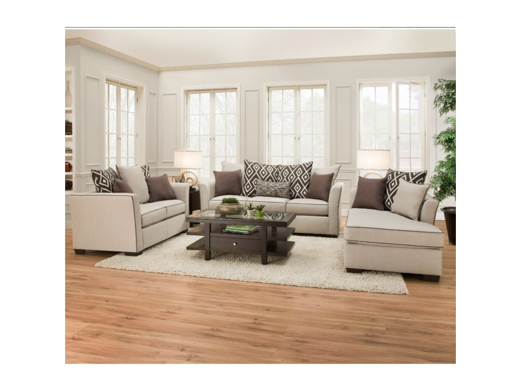 United Furniture Industries 4202Transitional Living Room Group