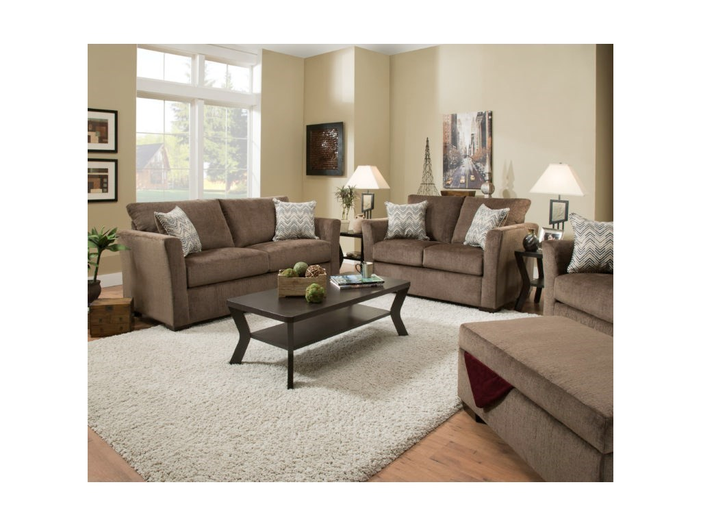 United Furniture Industries 4206Transitional Full Sleeper Sofa