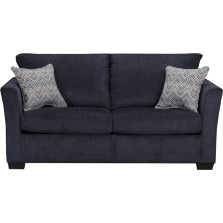 Transitional Two Cushion Sofa