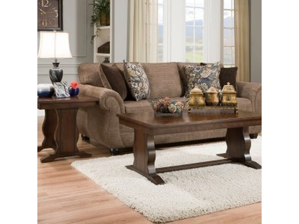 United Furniture Industries 4250 BRTransitional Queen Sleeper Sofa