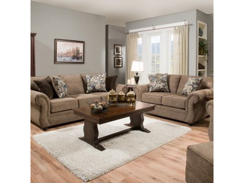 United Furniture Industries 4250 BRTransitional Sofa