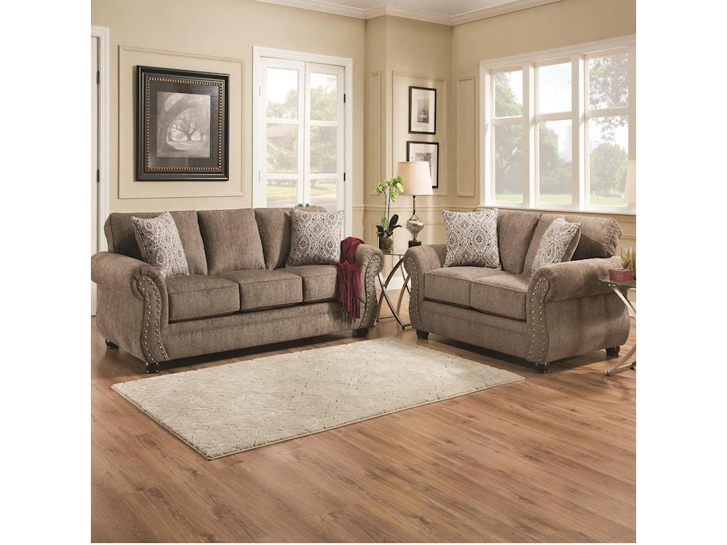 Simmons Upholstery 4253Chenille Loveseat