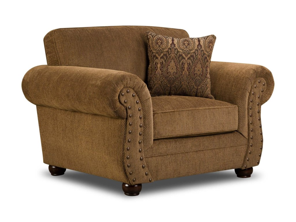 Simmons Upholstery 4276Traditional Chair with Rolled Arms