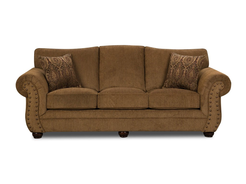 Simmons Upholstery 4276Traditional Sofa with Rolled Arms