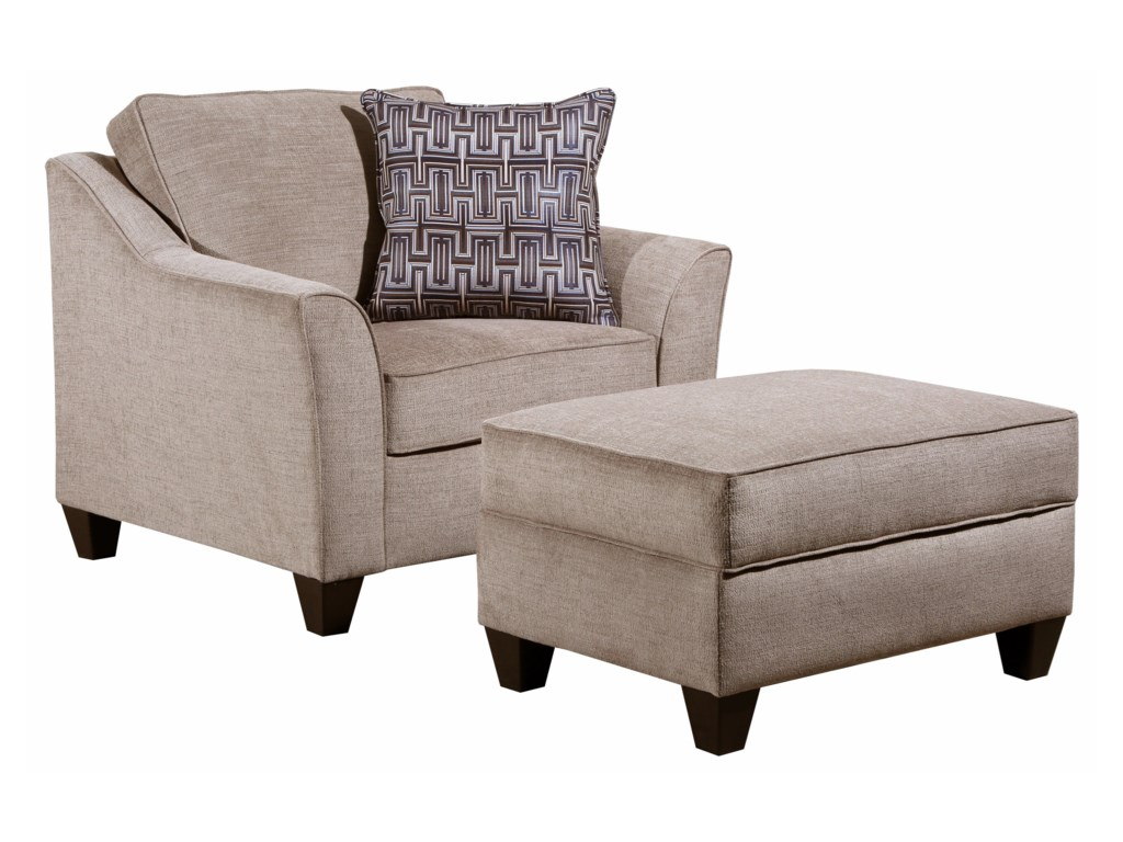 United Furniture Industries 4330Chair and Ottoman Set