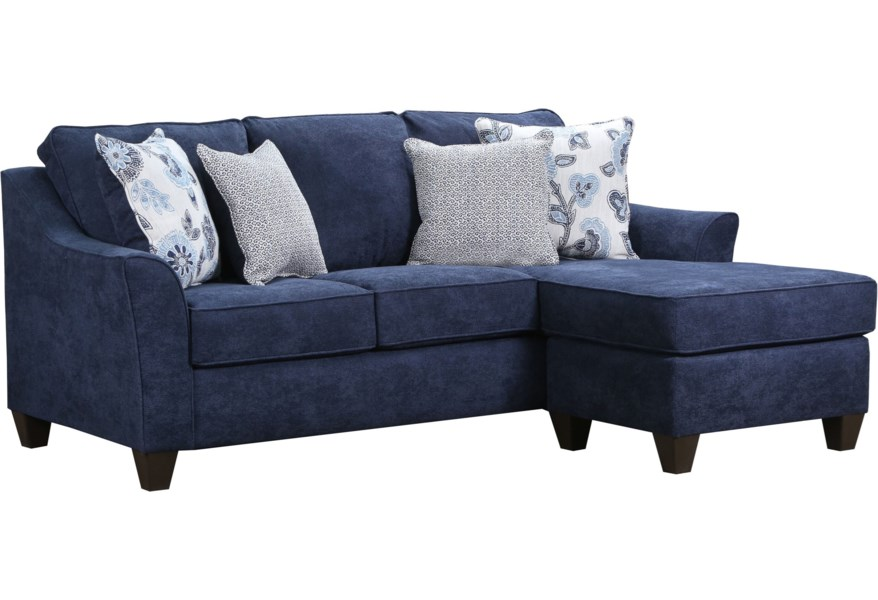 United Furniture Industries 4330 10045914 Contemporary Sofa With Reversible Chaise | Pilgrim Furniture City | Sectional Sofas