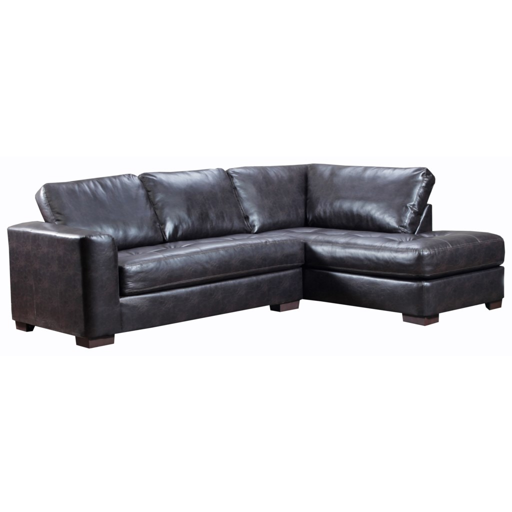 Simmons Upholstery 4558 Sectional Sofa With Chaise Dunk Bright