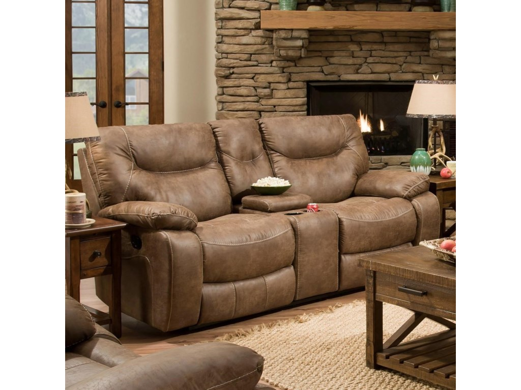 United Furniture Industries 50250 BRCasual Double Motion Console Loveseat
