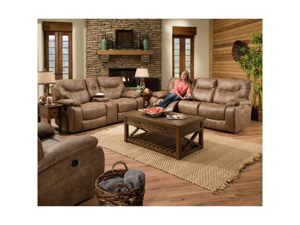 United Furniture Industries 50250 BRCasual Double Motion Sofa