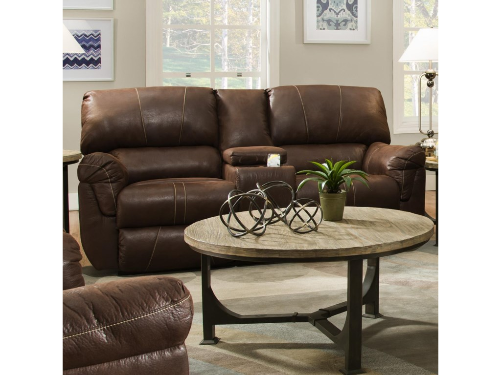 United Furniture Industries 50364Power Double Motion Console Loveseat