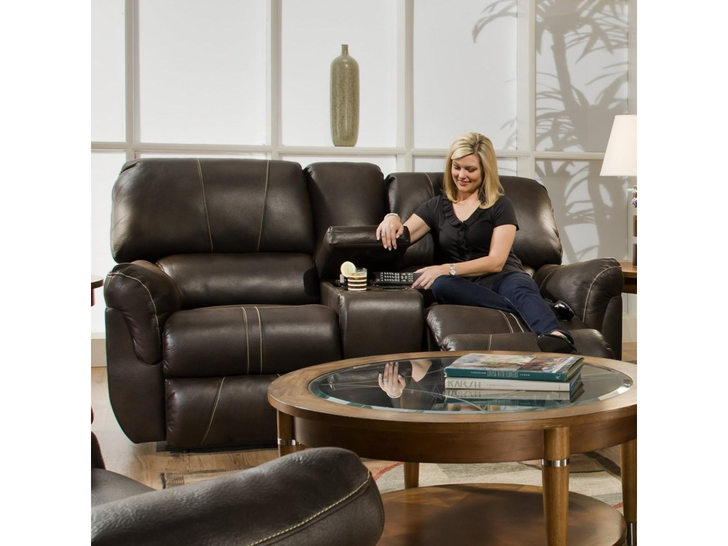 United Furniture Industries 50365Casual Double Motion Console Loveseat