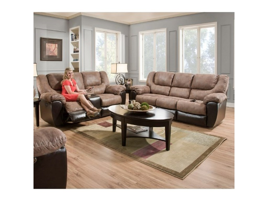 United Furniture Industries 50431Double Motion Console Loveseat