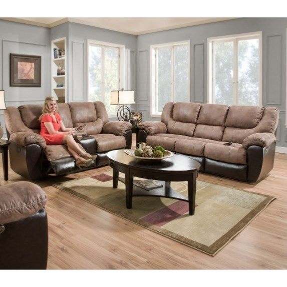United Furniture Industries 50431Power Double Motion Console Loveseat