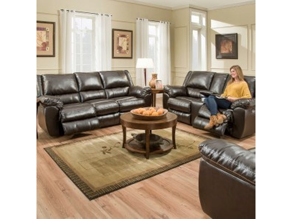Simmons Upholstery 50433BRPower Reclining Living Room Group