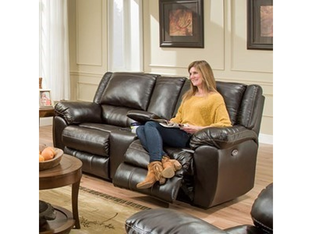 Lane Home Furnishings 50433BRPower Double Motion Console Loveseat