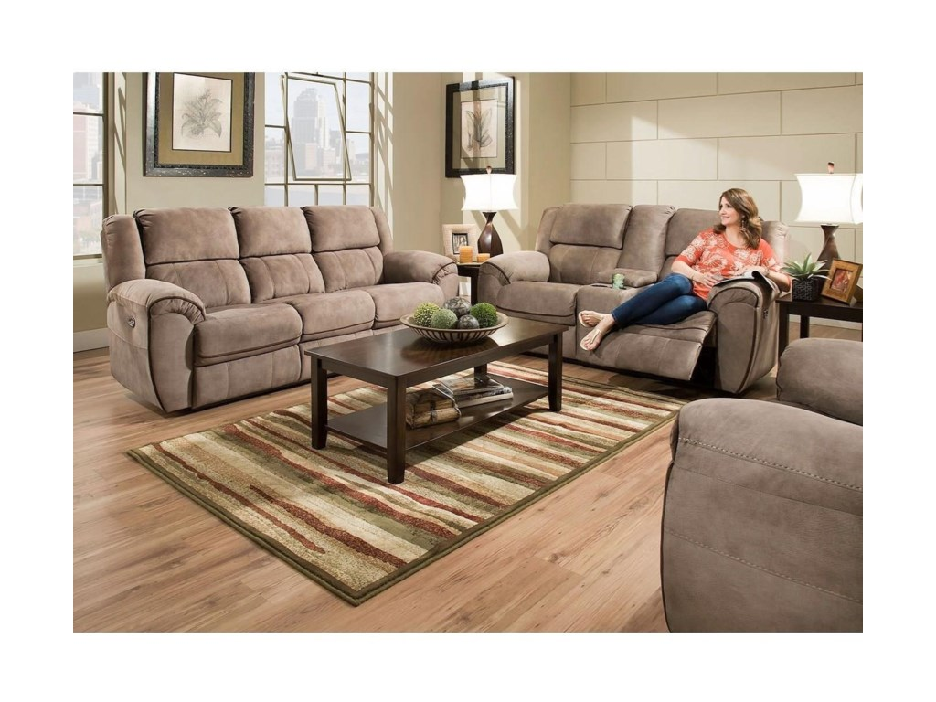 Blue Hill 50436BRPower Reclining  Console Loveseat