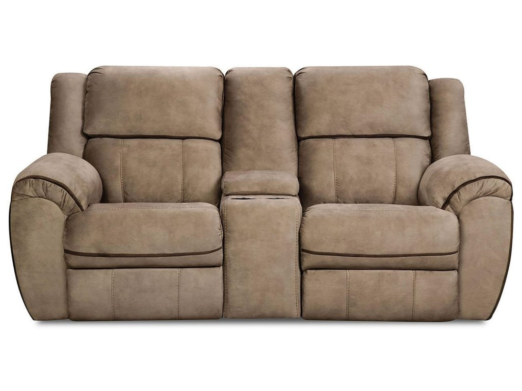 United Furniture Industries 50436Reclining Console Loveseat