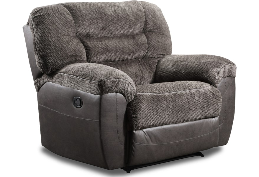 50439br Casual Reclining Cuddler With Pillow Arms By Simmons Upholstery At Dunk Bright Furniture