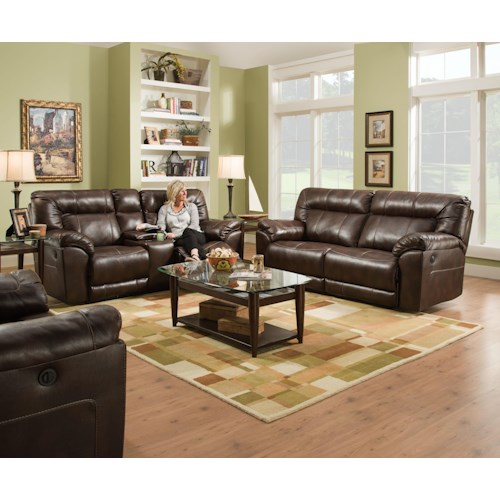 United Furniture Industries 50751 ABIL TOBAC Reclining Loveseat