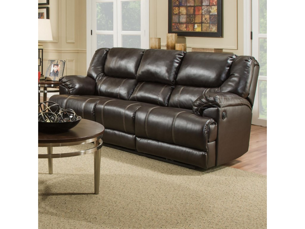 United Furniture Industries 50451Reclining Sofa with Table