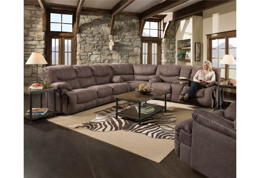 United Furniture Industries 50455BR Casual 3-Piece Reclining ...