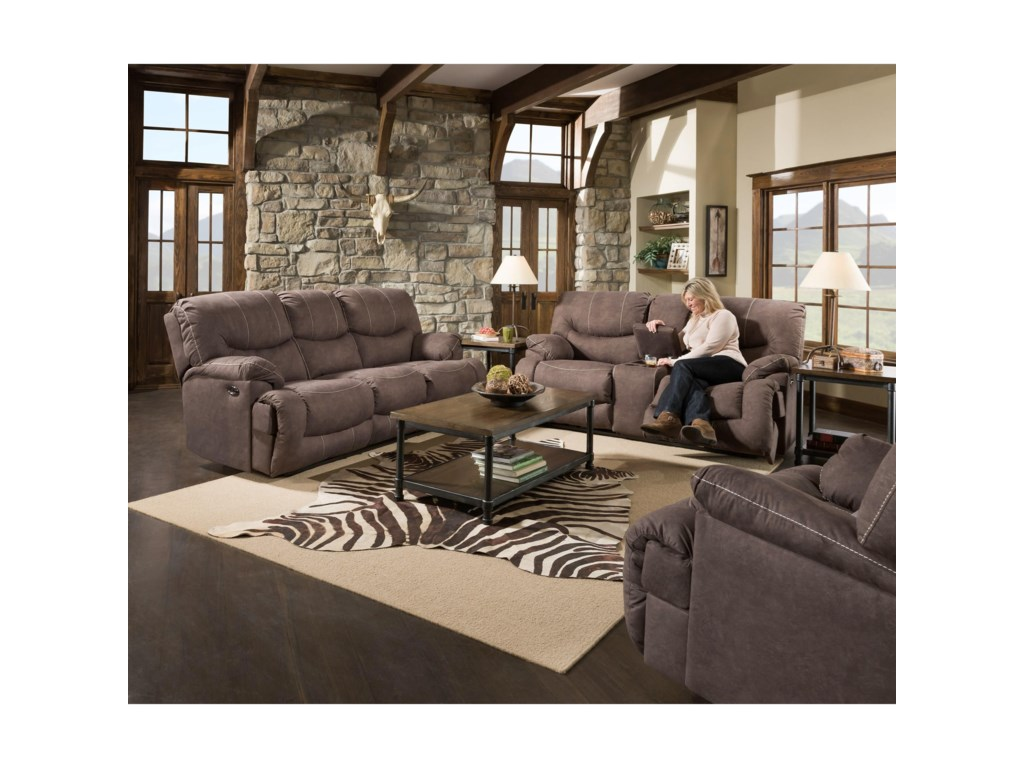 United Furniture Industries 50455BRReclining Console Loveseat