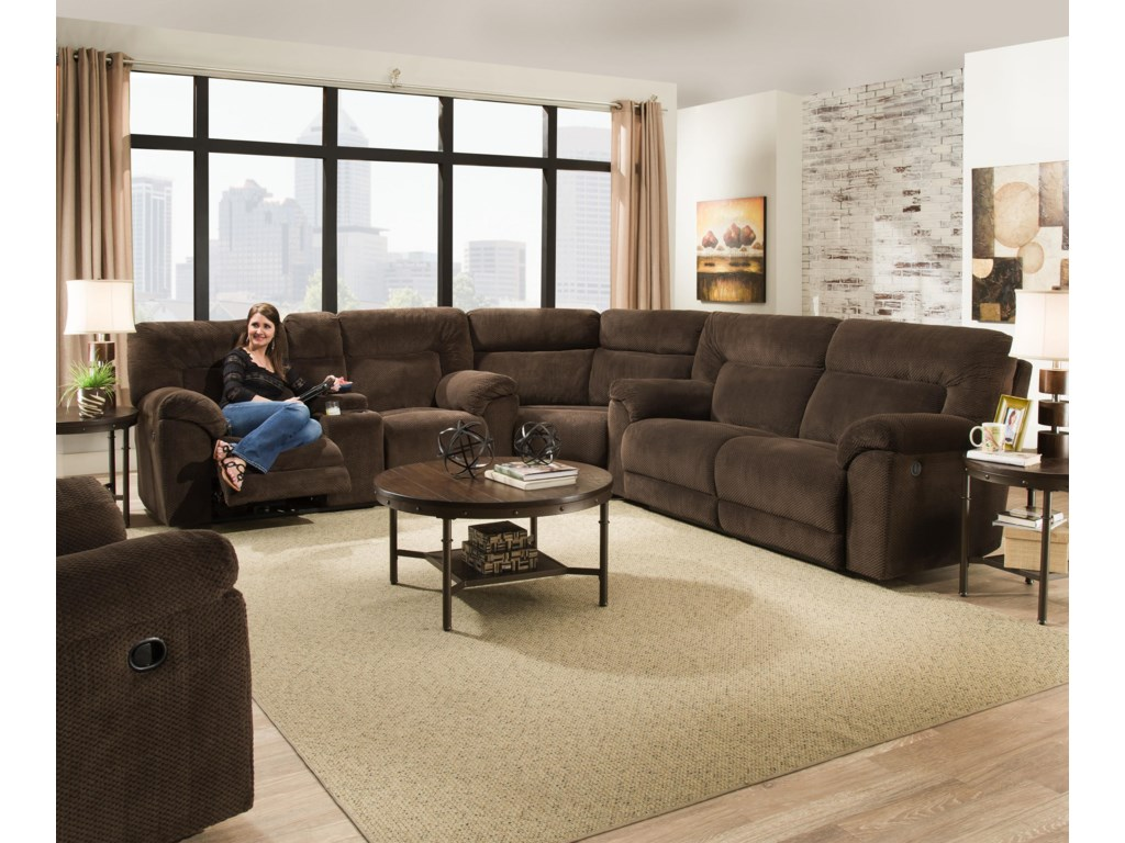 United Furniture Industries 50570Power Reclining Sectional Sofa