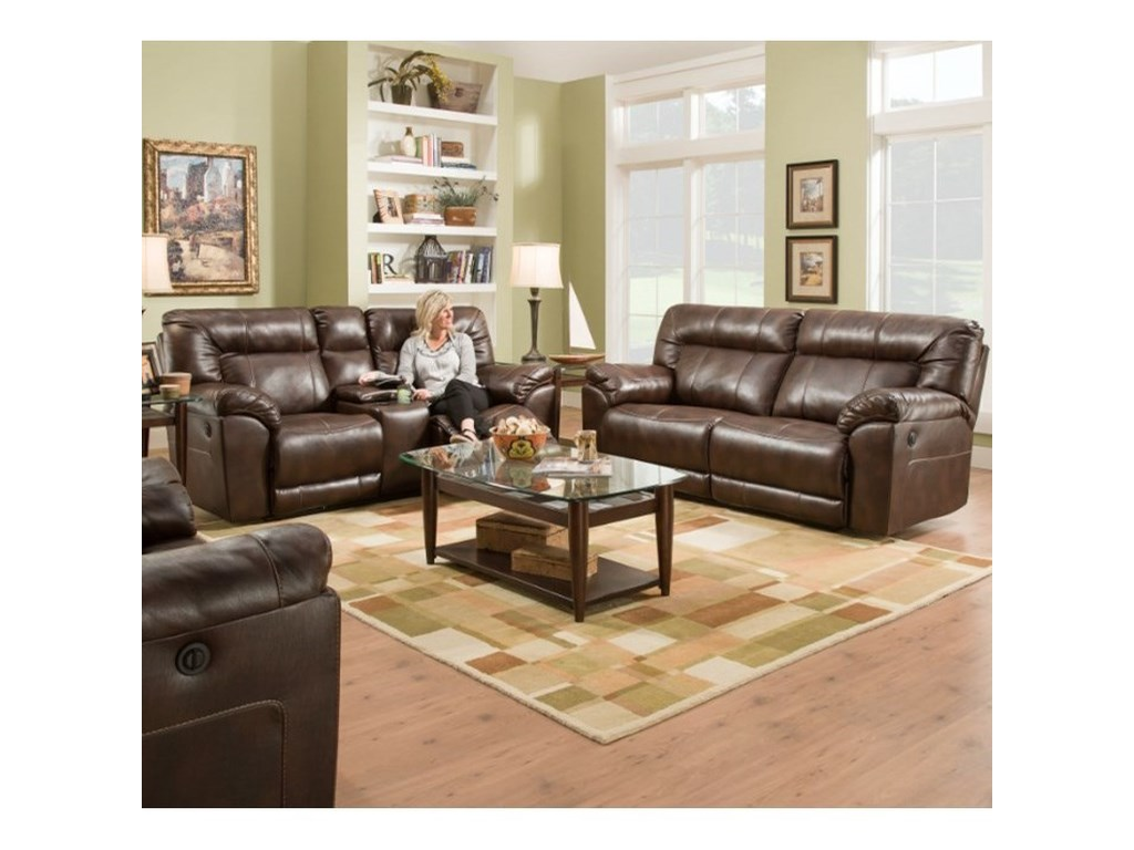 United Furniture Industries 50571BRPower Double Motion Sofa