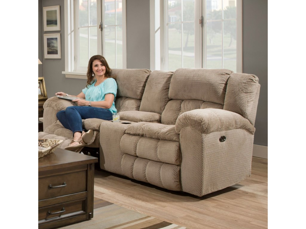 United Furniture Industries 50580BRPower Double Motion Loveseat