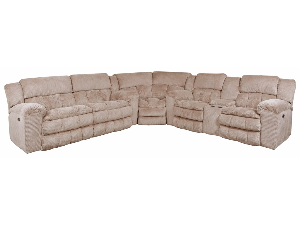 United Furniture Industries 50580BRPower Reclining Sectional