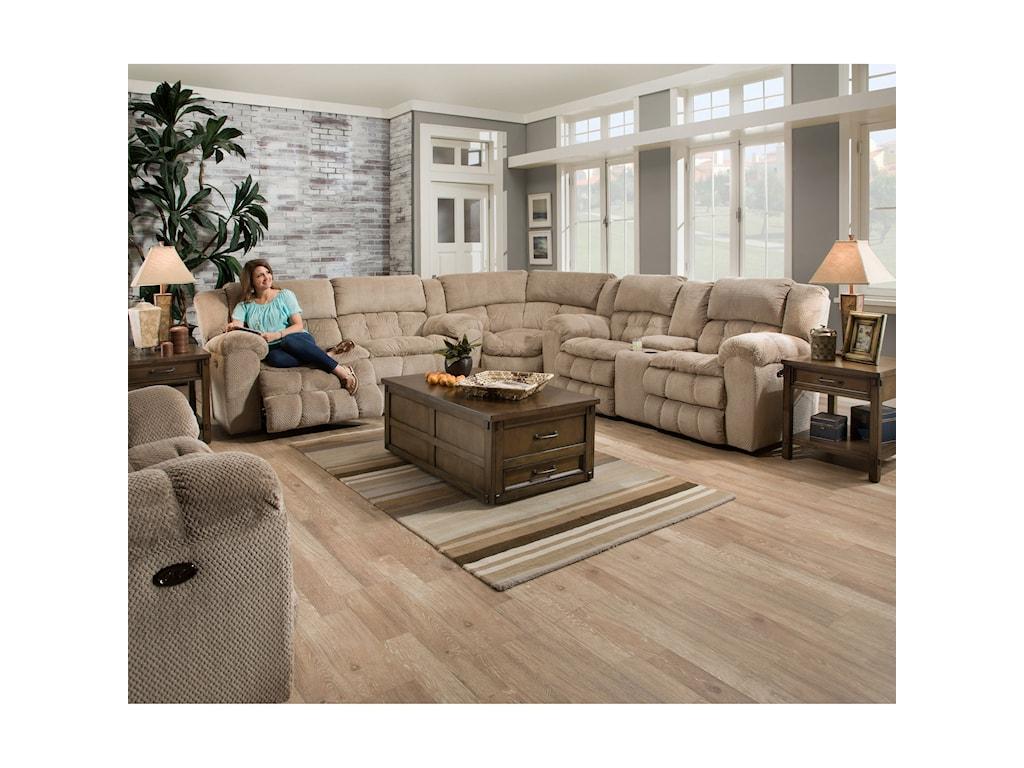 United Furniture Industries 50580BRDouble Motion Sofa