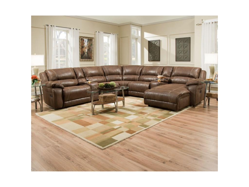 United Furniture Industries 50660Casual Sectional Sofa