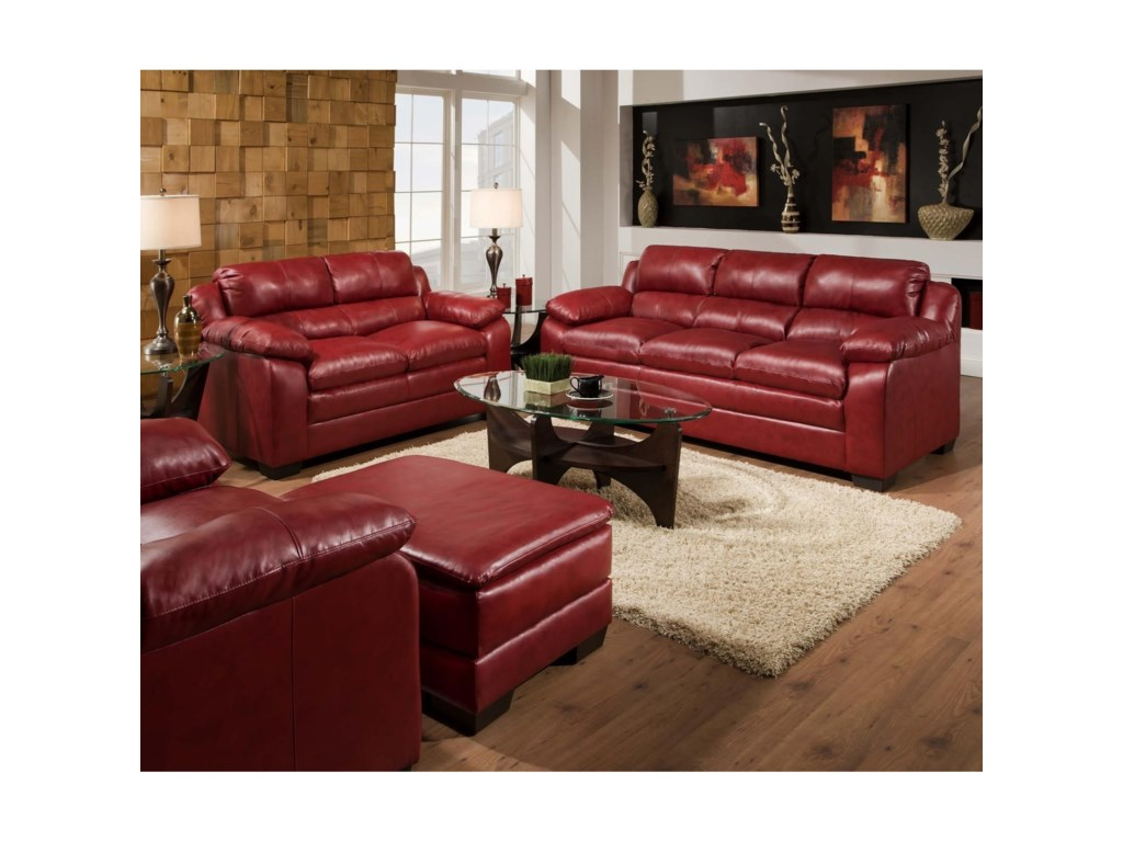 United Furniture Industries 5066Stationary Sofa and Loveseat Group
