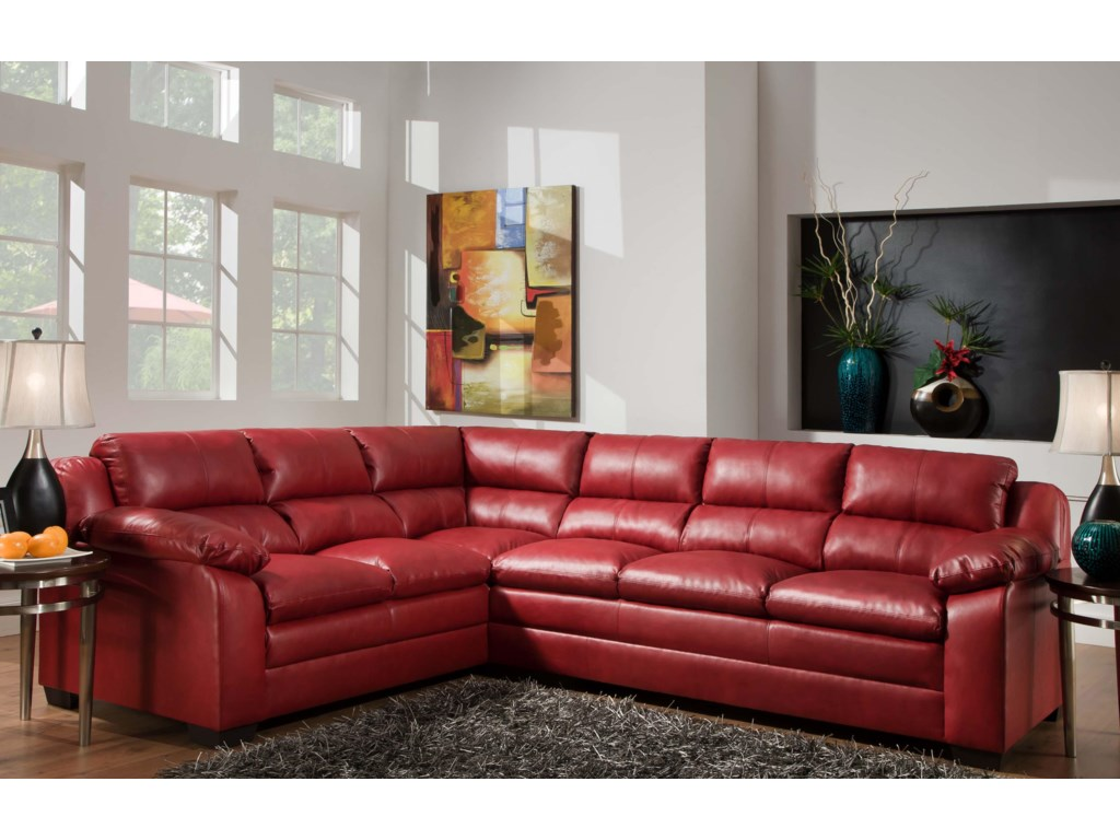 United Furniture Industries 5066Casual Sectional Sofa