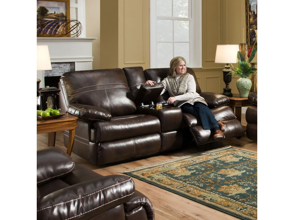 United Furniture Industries 50981Double Motion Console Loveseat
