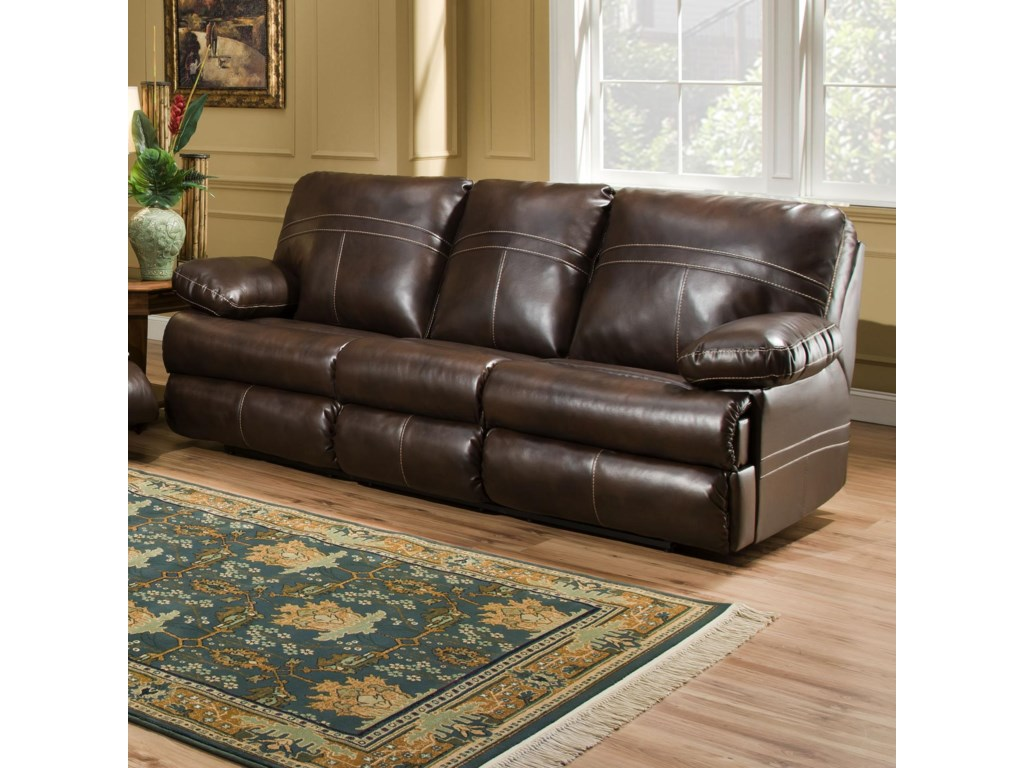 Simmons Upholstery 50981 Double Motion Sofa Dunk Bright