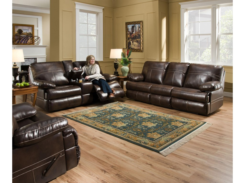 Simmons Upholstery 50981Double Motion Sofa