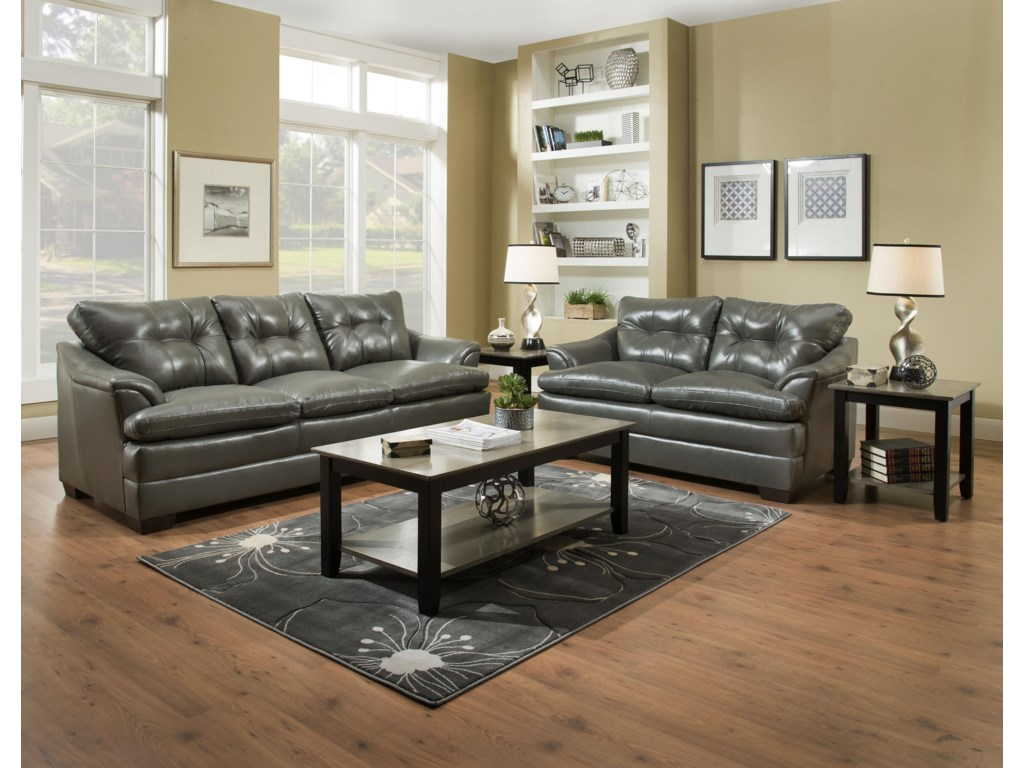 Simmons Upholstery 5122Casual Sofa and Loveseat