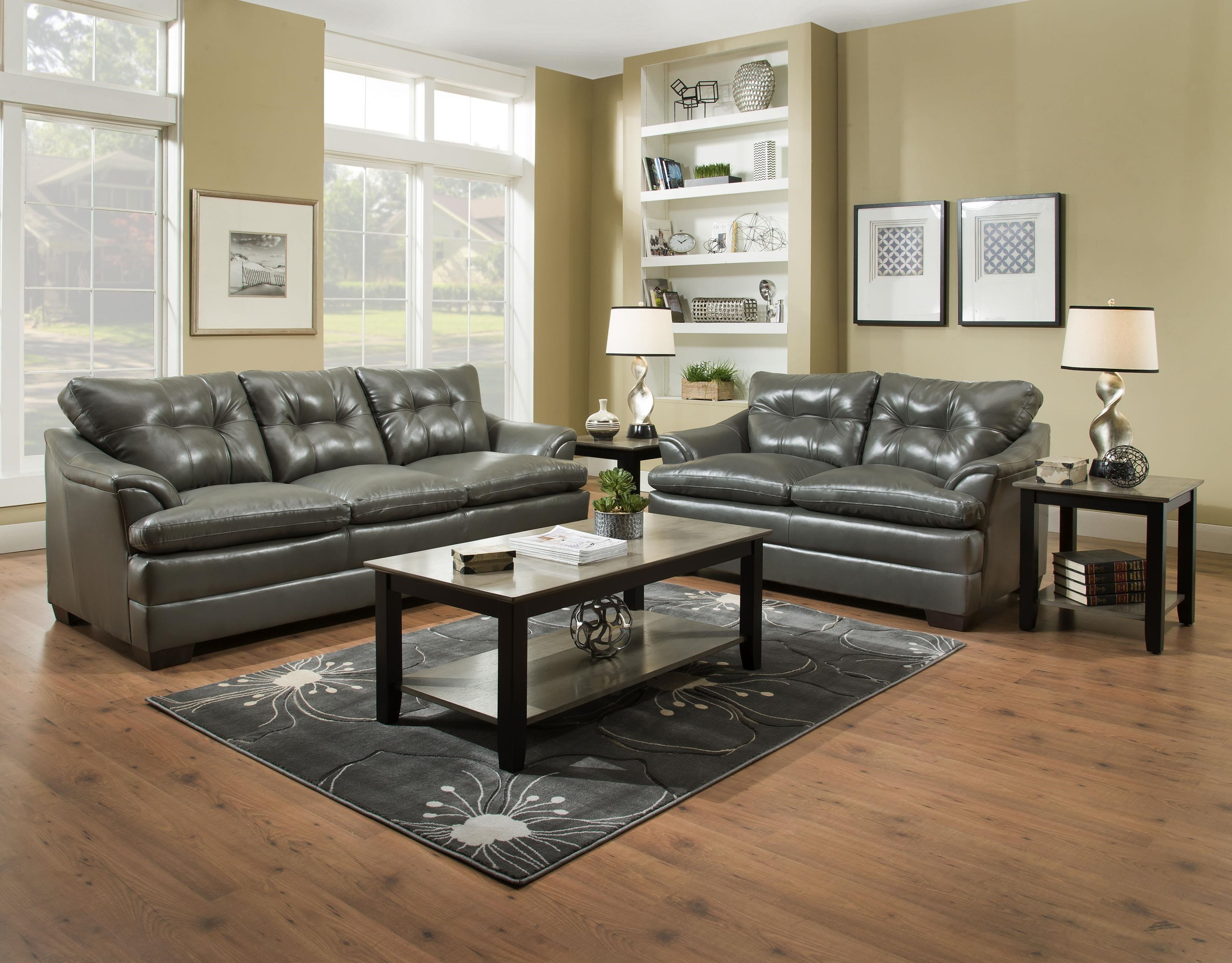 Simmons Upholstery 5122Casual Sofa And Loveseat ...