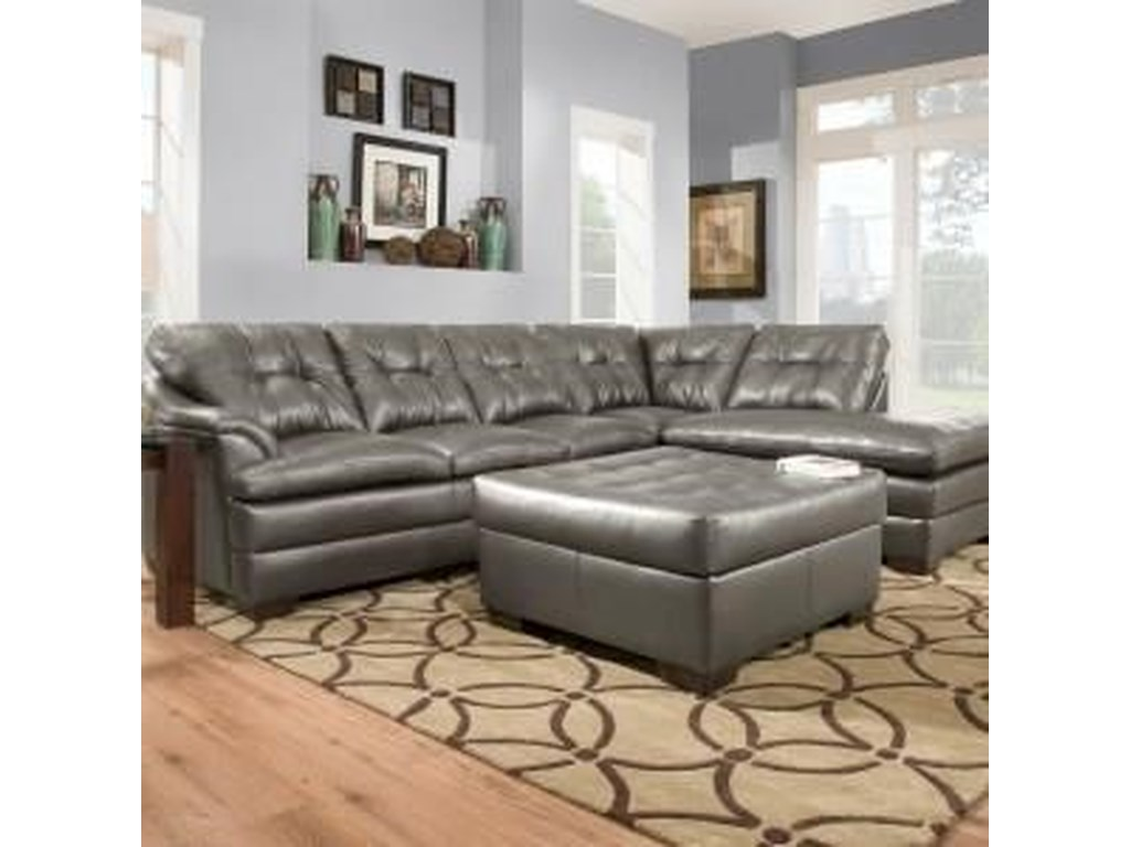 Simmons Upholstery 51222 Piece Sectional with Ottoman
