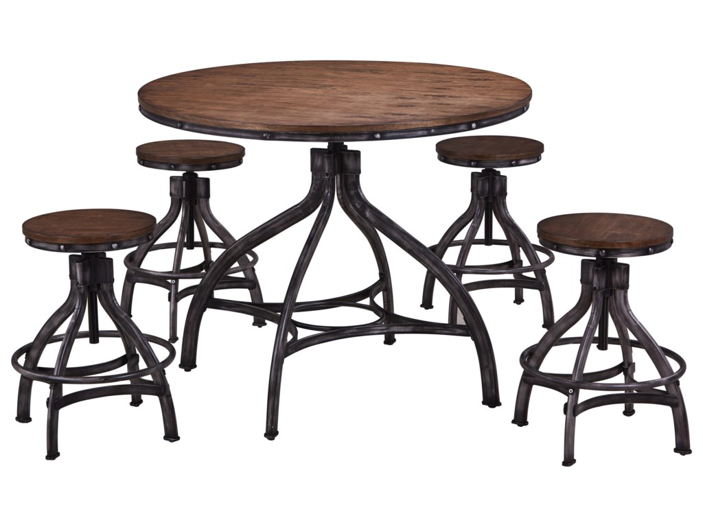 United Furniture Industries Chandler5 Piece Table and Chair Set